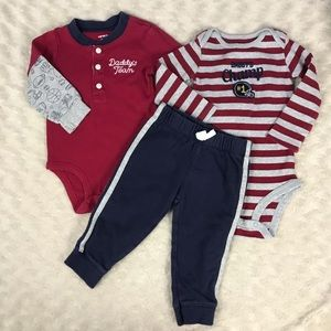 Carter's Baby Boy Outfit Set Daddy's Team 9M